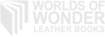 Worlds of Wonder Leather Books Logo