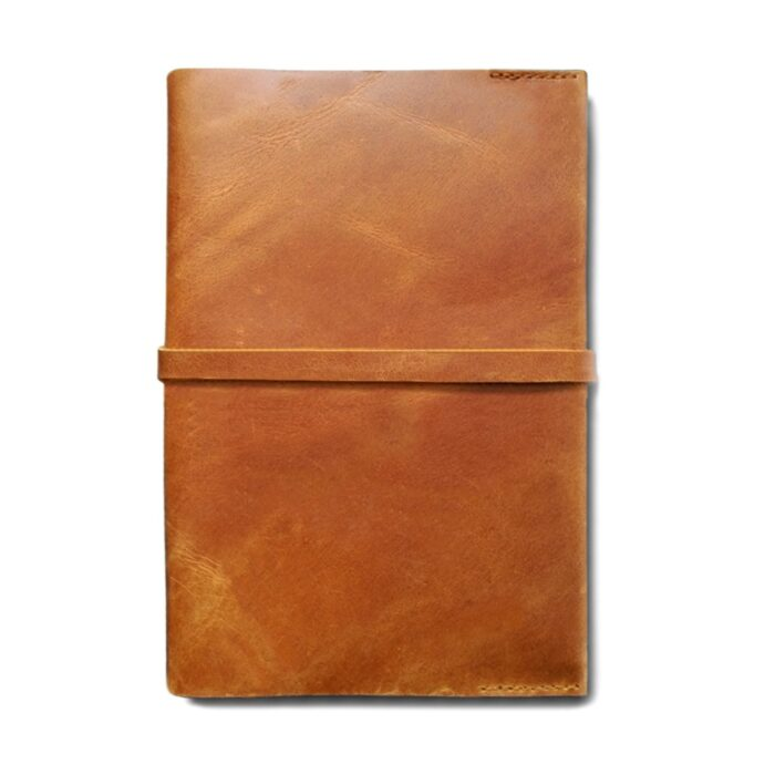 A5 Leather Slip Cover - Tan Leather