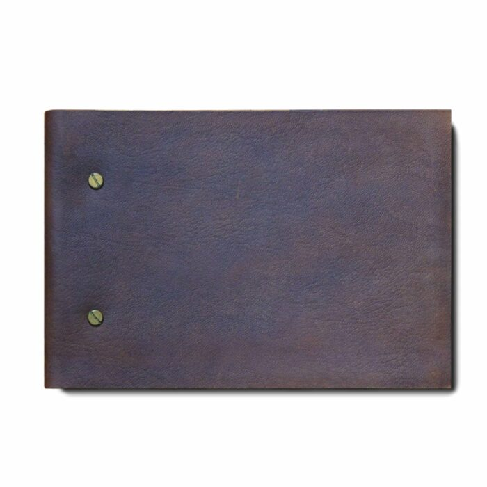 A5 dark Leather Journal with refillable pages