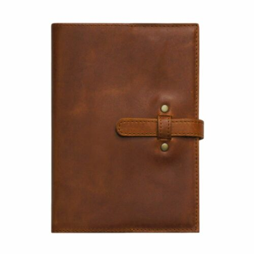 A5 Leather Slip Cover With Belt