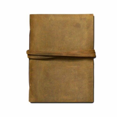 A6 size handmade leather book