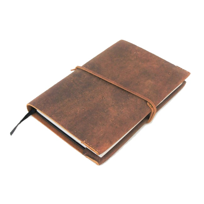 Leather A5 Book Slip Cover