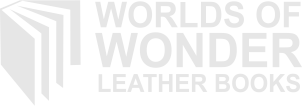 Worlds of Wonder Leather Books Retina Logo