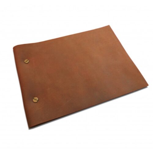 A5 tan Leather Journal with refillable pages