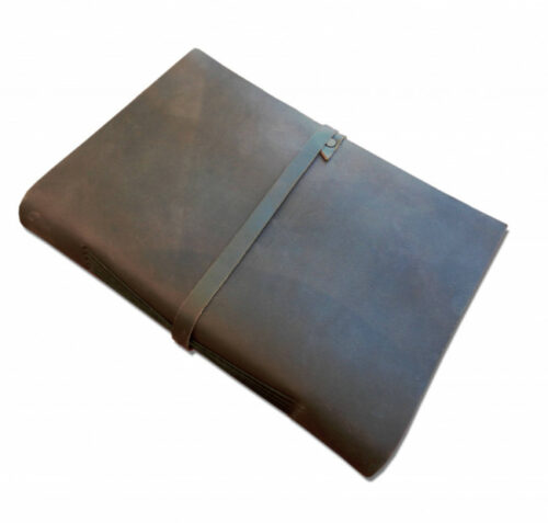 Customizable A4 handmade leather book with blank pages