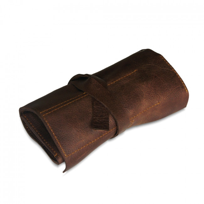 Rolled up Leather Tool or Gadget Holder