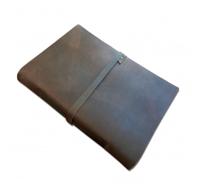 Handmade leather books blank pages