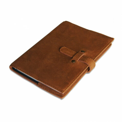 Leather diary cover fits a5 diary book