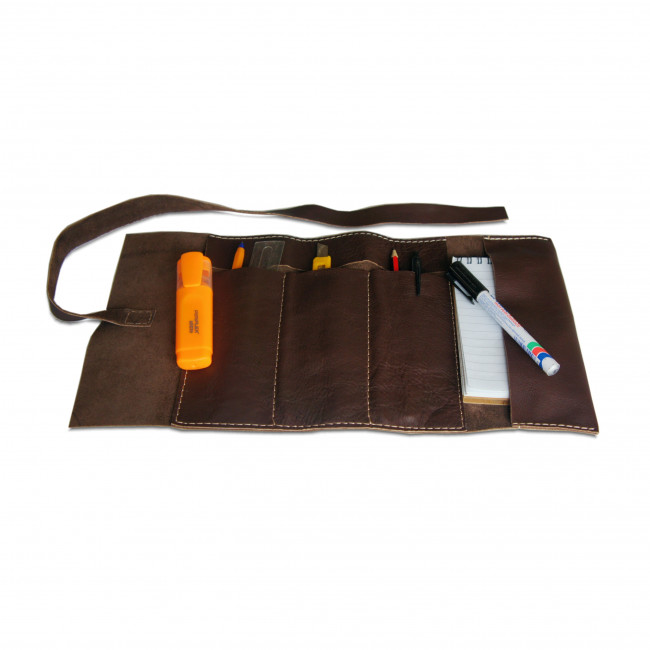 Leather Pen and Tool Holder that rolls up